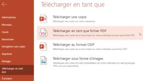 Télécharger PowerPoint au format PDF