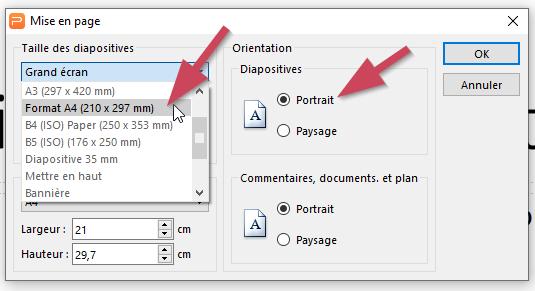 Choisir la taille de sa diapositive WPS